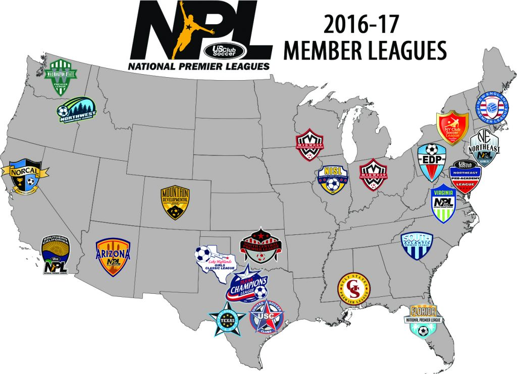 National Premier Leagues NPL map